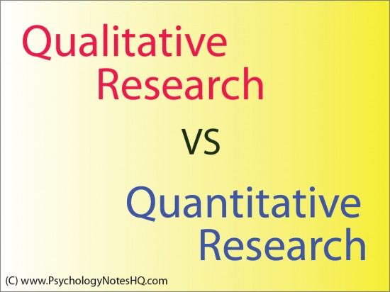 Qualitative Research vs Quantitative Research